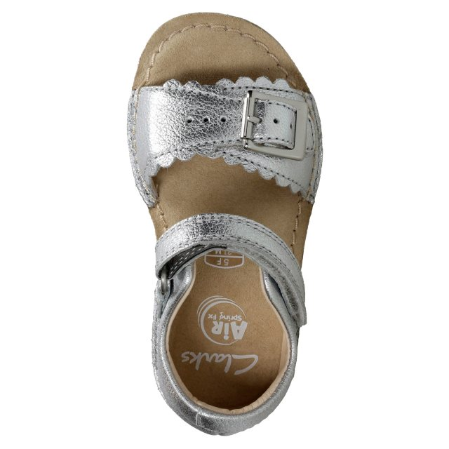 0e8d431a5eb Clarks Ivy Flora Silver Leather 26133781 - First Walkers - Humphries ...