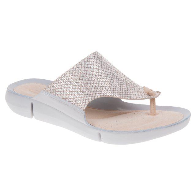 c4908dca3 Clarks Tri Carmen Metallic 26131759 - Toe Post Sandals - Humphries Shoes