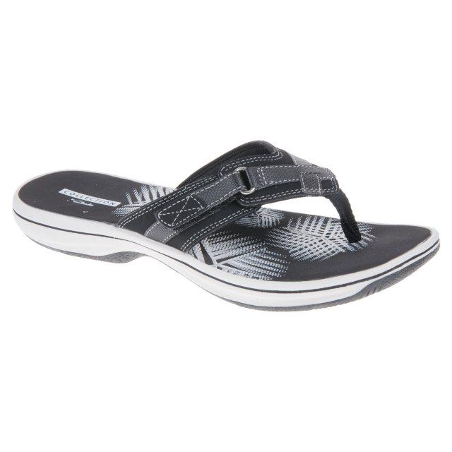 44662f96ac09 Clarks Brinkley Sea Black Synthetic 26129294 - Toe Post Sandals ...
