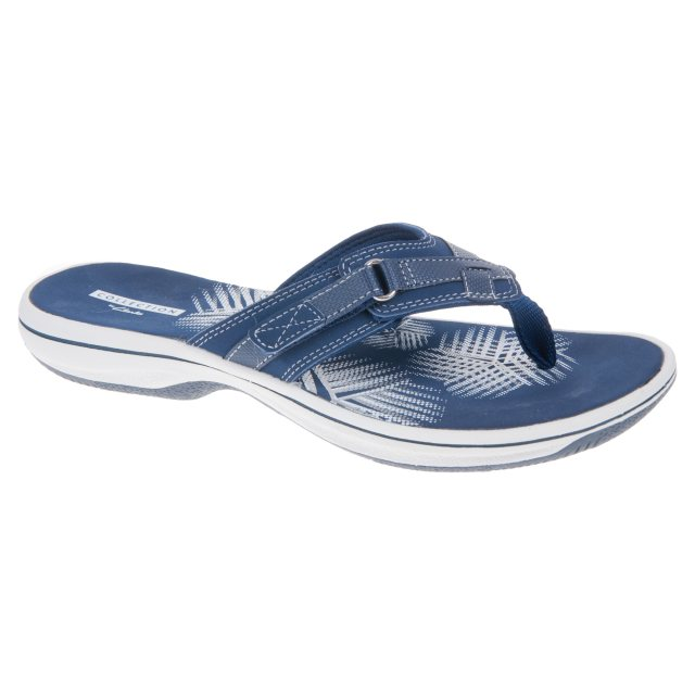 7e4265813368 Clarks Brinkley Sea Navy Synthetic 26129295 - Toe Post Sandals ...