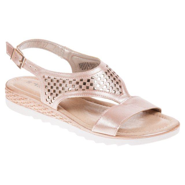 1f7600263 Tamaris Aza 13 Rose   Gold Metallic 28713-20 670 - Full Sandals ...