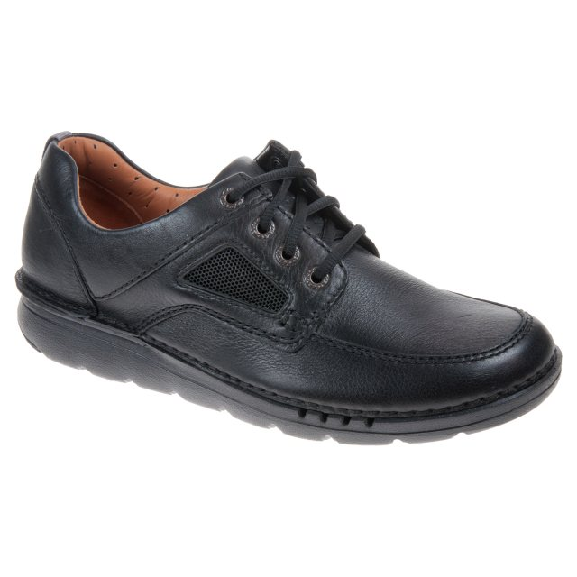 f5b51020149f Clarks Unnature Time Black Leather 26127942 - Casual Shoes ...