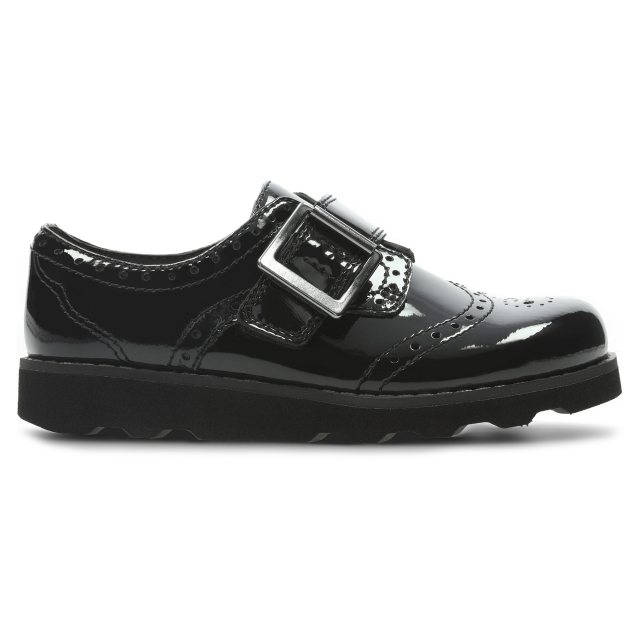 a312b75030a Clarks Crown Pride Black Patent Leather 26134903 - Girls Shoes ...