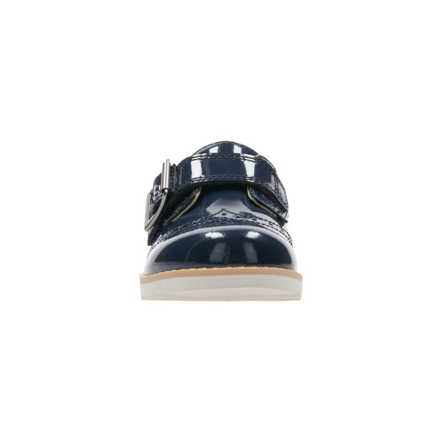 3bd8250dd86 Clarks Crown Pride Navy Patent 26135781 - Girls Shoes - Humphries Shoes