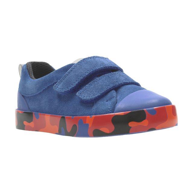 2706167fa33 Clarks City Vine Lo Blue Camo 26137752 - Boys Shoes - Humphries Shoes