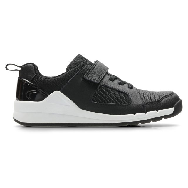 BOYS CLARKS LEATHER RIPTAPE STRAP CASUAL SCHOOL SHOES SPORTS TRAINERS ORBIT RIDE