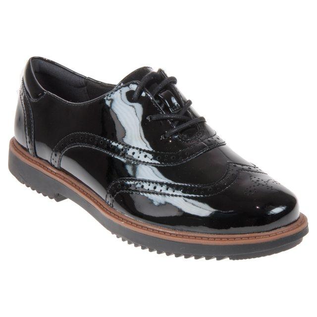 Reparador Extinto Año nuevo  Clarks Raisie Hilde Black Patent 26136343 - Everyday Shoes - Humphries Shoes