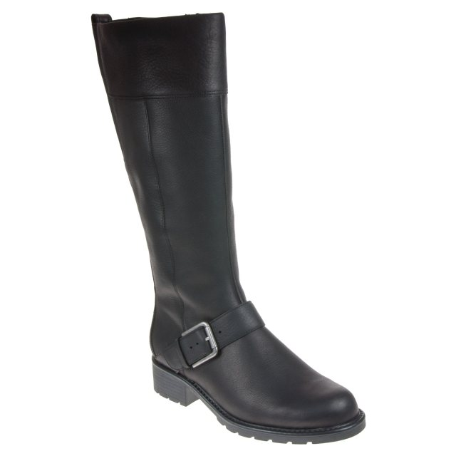 Apariencia envidia No se mueve  Clarks Orinoco Jazz Black Warm Lined Leather 26138196 - Knee High Boots -  Humphries Shoes