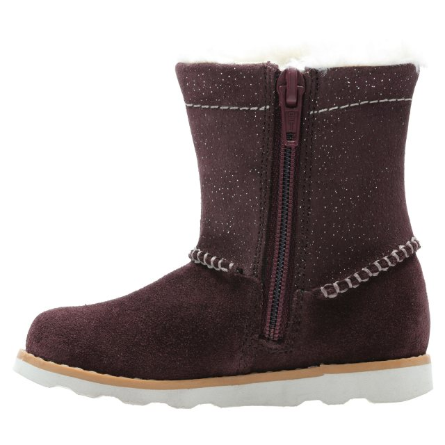 0ccc4c1f Clarks Crown Piper Burgundy Suede 26138302 - Girls Boots - Humphries ...
