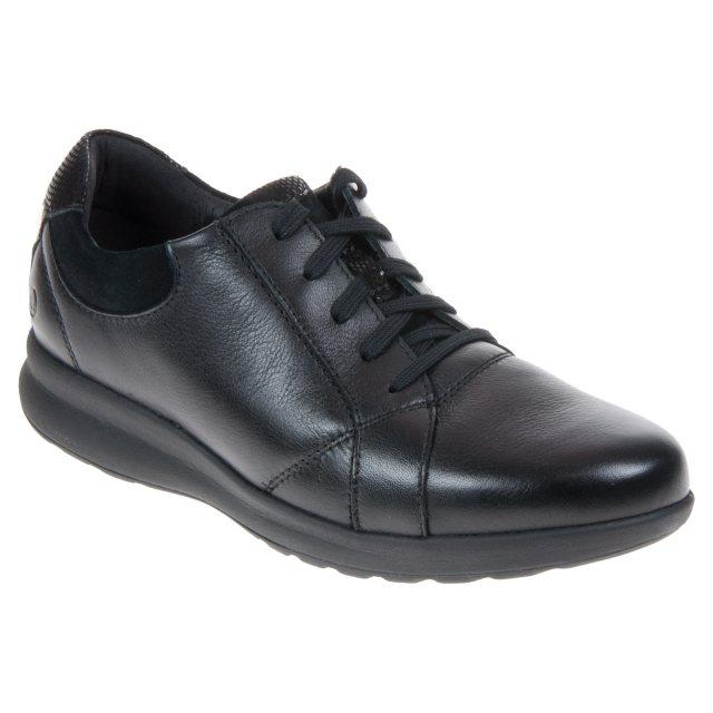 11e5b0319bf5be Clarks Un Adorn Lace Black Combi 26136071 - Everyday Shoes ...