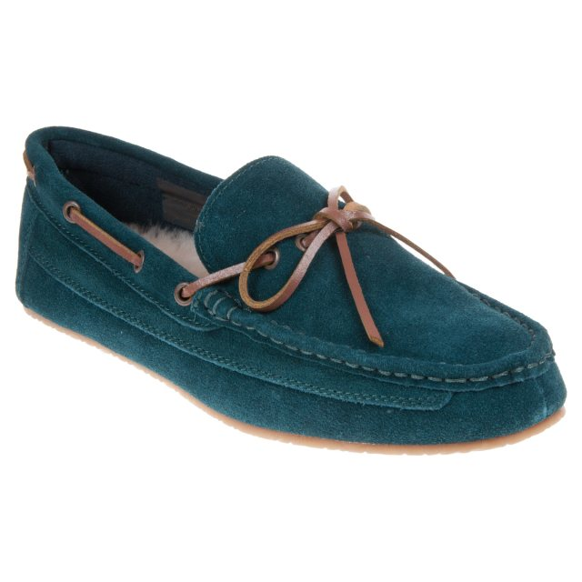 7db47cdcc78 Clarks Crackling Glow Teal Suede 26135482 - Full Slippers ...