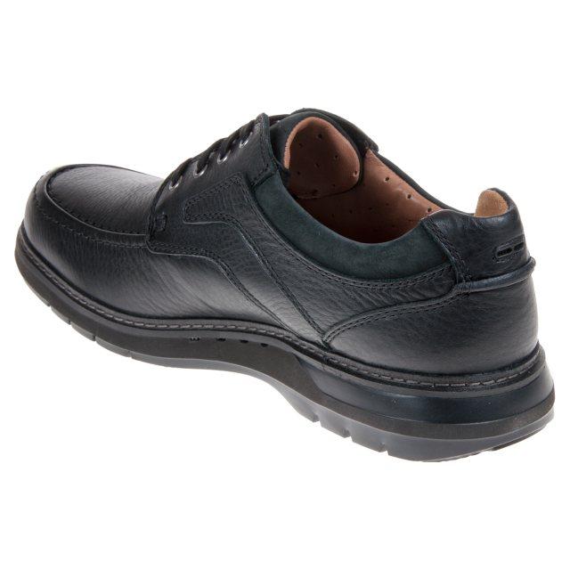 f058fb44e610d Clarks Un Ramble Lace Black Leather 26136989 - Casual Shoes ...