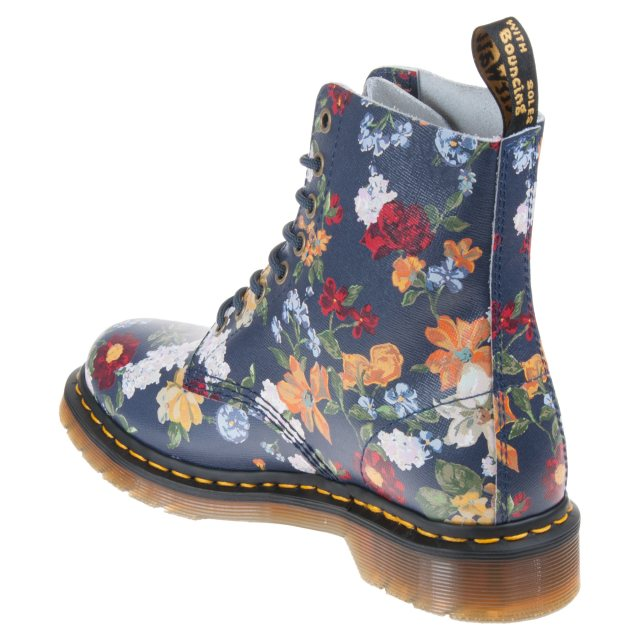 c1f407287a505 Dr. Martens 1460 Pascal Navy Darcy Floral Backhand Straw Grain ...