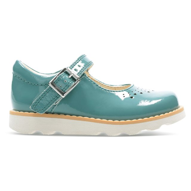 9c20008d17b3 Clarks Crown Jump Toddler Teal Leather 26141128 - Girls Shoes ...