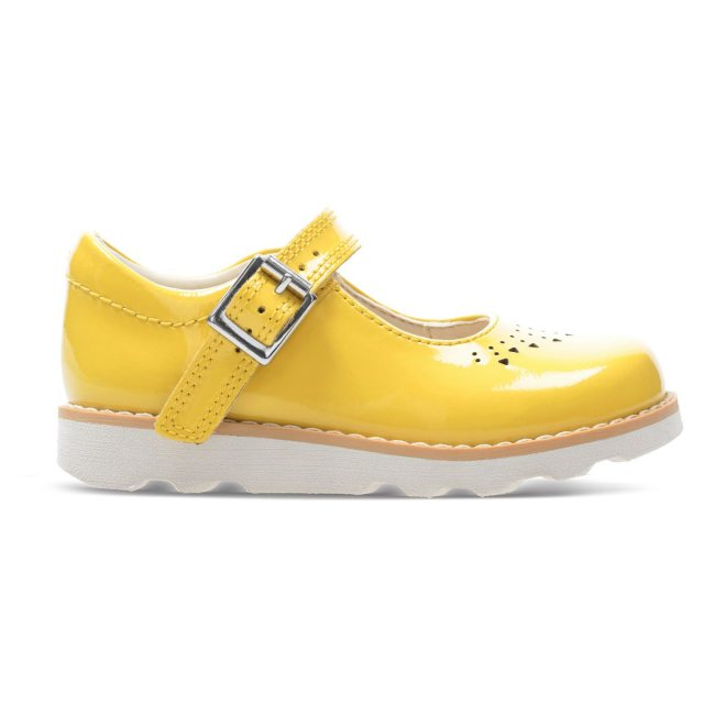 80f3912f18342d Clarks Crown Jump Toddler Yellow Patent 26141124 - Girls Shoes ...