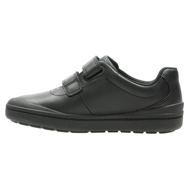 92e0f02cb Clarks Rock Play Kids Black Leather 26140645 - Boys School Shoes ...