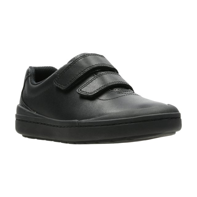 56303b9ee Clarks Rock Play Toddler Black Leather 26141557 - Boys School Shoes ...