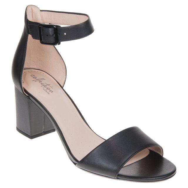 5808559aeb4 Clarks Deva Mae Black Leather 26140007 - Evening Sandals - Humphries ...