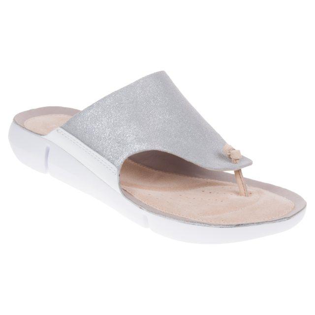 fb5af2119e09 Clarks Tri Carmen Silver 26135115 - Toe Post Sandals - Humphries Shoes