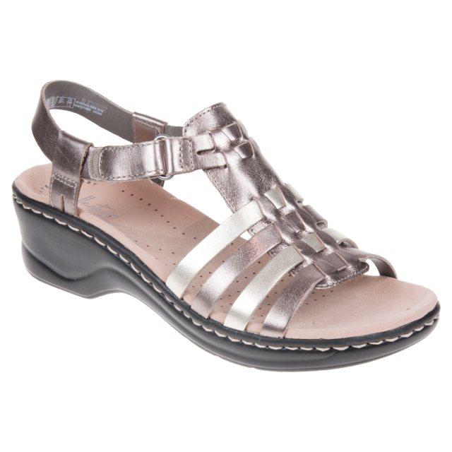 5bdf11755aaa4 Clarks Lexi Bridge Metallic Multi 26139776 - Full Sandals ...