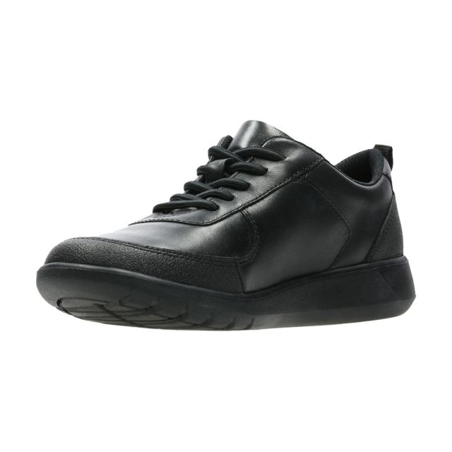 Clarks Scape Street Youth Black Leather
