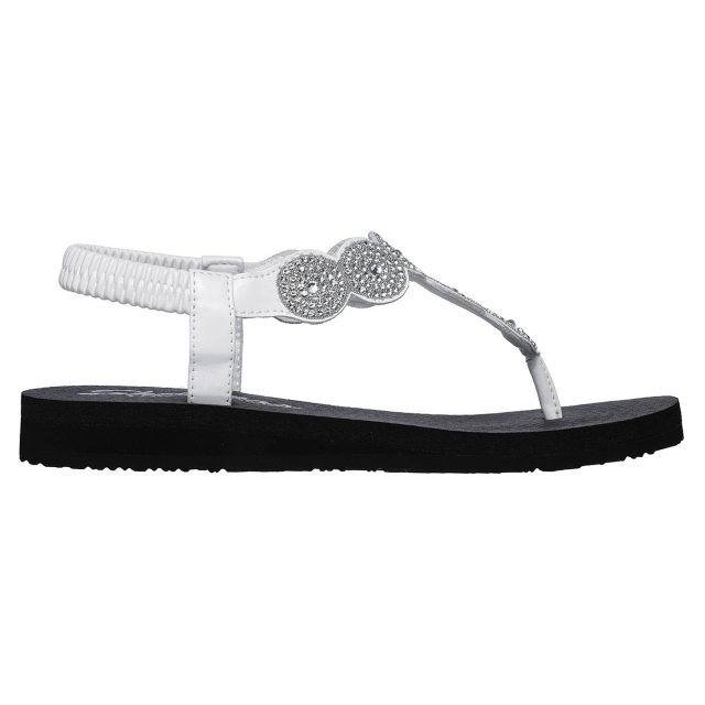 fd18216a2707 Skechers Meditation - Stars   Sparkle White 31755 WHT - Toe Post ...