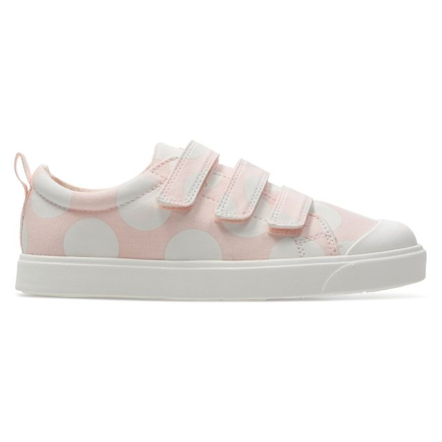 0af21b7bfc39f Clarks City Flare Lo Kids Pink Combi 26140460 - Girls Canvas Styles ...