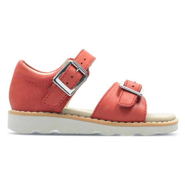 0c6a0581dbb Clarks Crown Bloom Toddler Coral Leather 26141120 - Girls Sandals ...