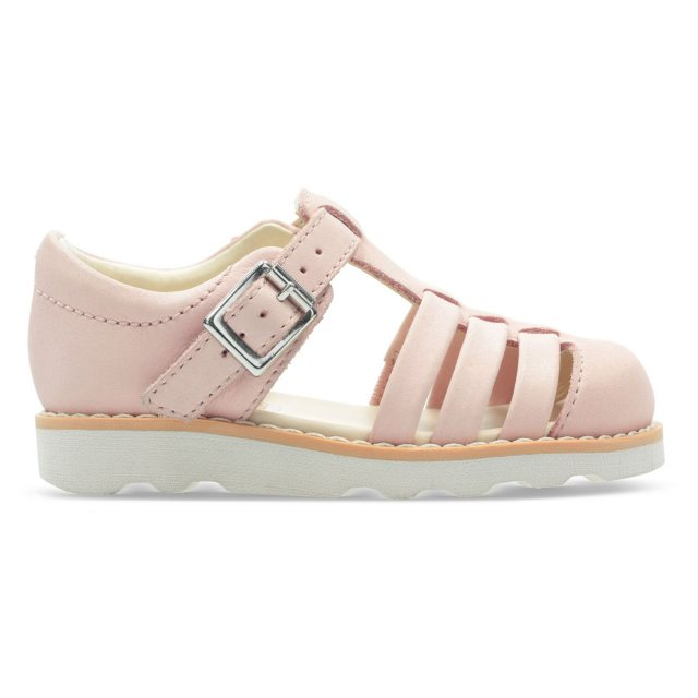 980fb3f1630a4 Clarks Crown Stem Toddler Pink Leather 26140537 - Girls Sandals ...