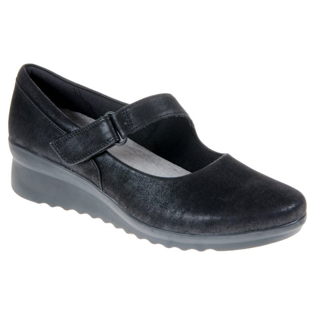 42206b0744c Clarks Caddell Yale Black 26129378 - Ballerina Shoes - Humphries Shoes