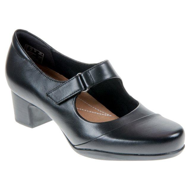 a35301cffd85 Clarks Rosalyn Wren Black 26110644 - Court Shoes - Humphries Shoes