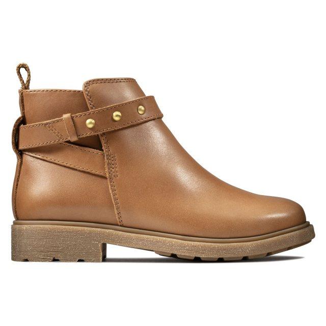 Clarks Astrol Soar Kids Tan Leather