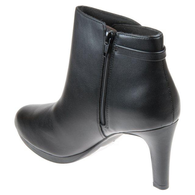 Clarks Adriel Mae Black Leather